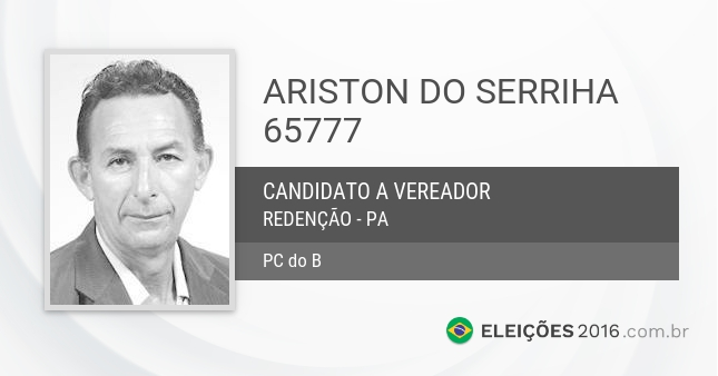 Santinho de Ariston do Serriha - 65777 - Candidato a Vereador