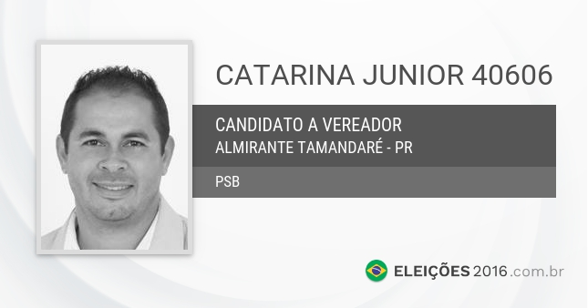 Santinho de Catarina Junior - 40606 - Candidato a Vereador