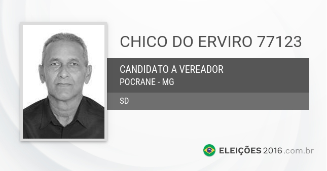 Santinho de Chico do Erviro - 77123 - Candidato a Vereador
