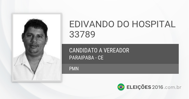 Santinho de Edivando do Hospital - 33789 - Candidato a Vereador