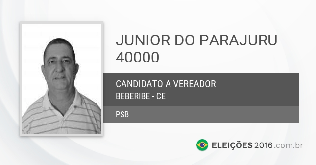 Santinho de Junior do Parajuru - 40000 - Candidato a Vereador