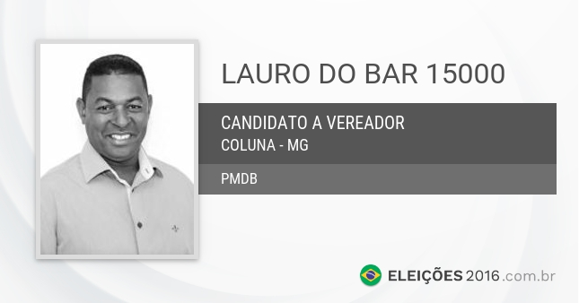 Santinho de Lauro do Bar - 15000 - Candidato a Vereador