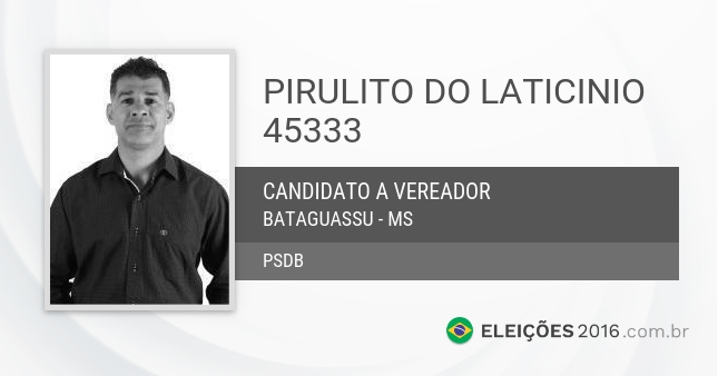 Santinho de Pirulito do Laticinio - 45333 - Candidato a Vereador