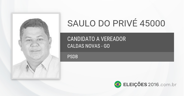 Santinho de Saulo do Privé - 45000 - Candidato a Vereador