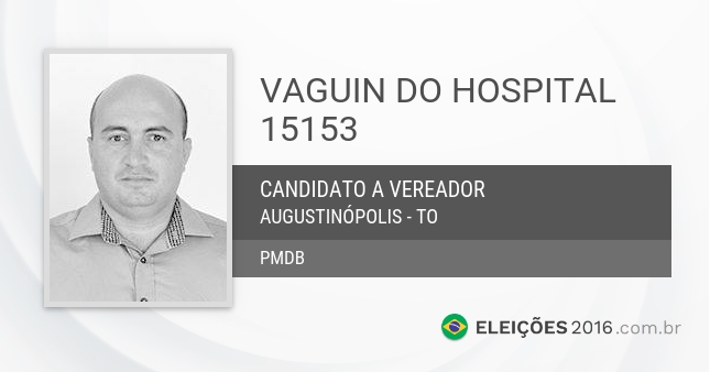 Santinho de Vaguin do Hospital - 15153 - Candidato a Vereador