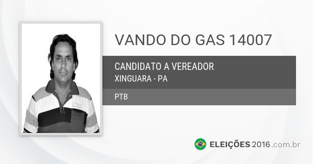 Santinho de Vando do Gas - 14007 - Candidato a Vereador