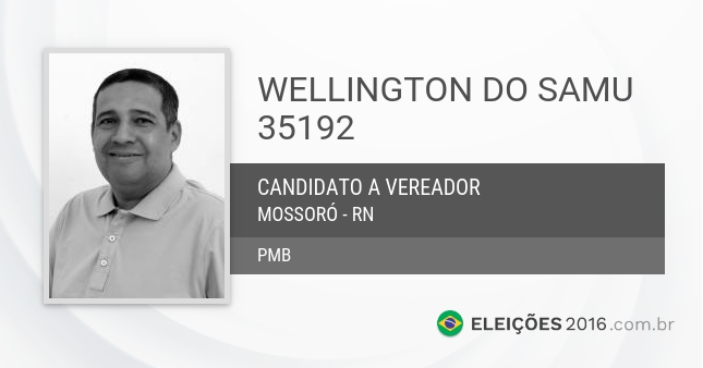 Santinho de Wellington do Samu - 35192 - Candidato a Vereador
