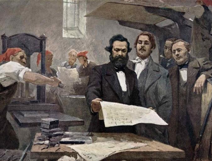Marx e Engels no Rheinische Zeitung